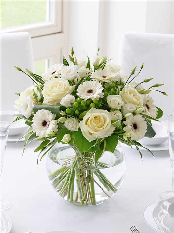 Classical Whites Floral Vase